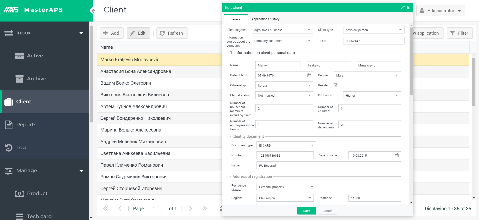 Connect to your client database